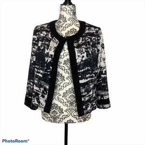 2/$25 Mario Serrani Black & White Dress Jacket